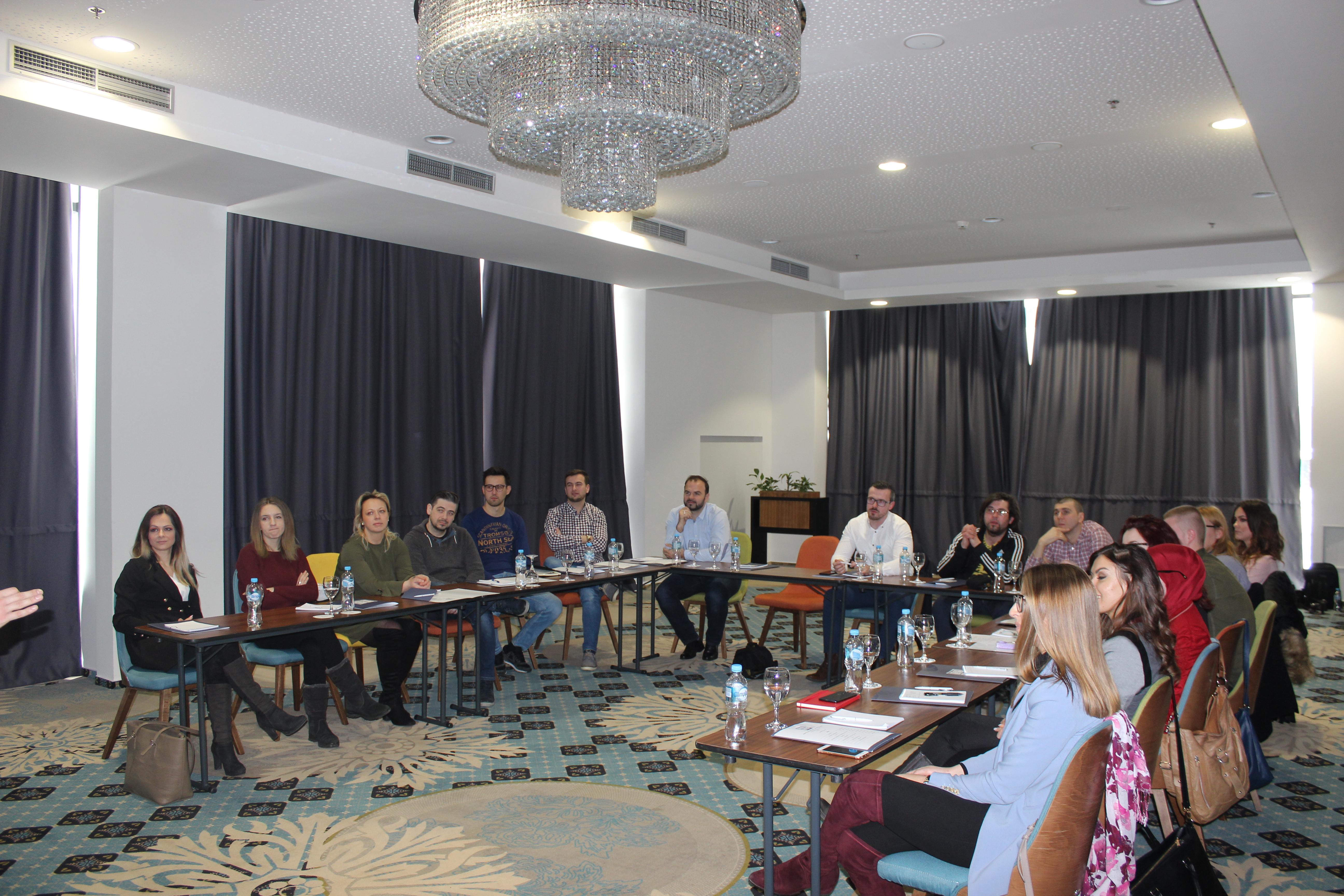 CaDa saradnici na treningu o javnom nastupu 1